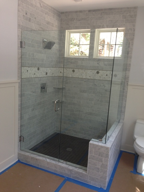 Shower Door 3 sided with Geneva hinges