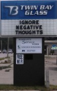 IGNORE NEGATIVE THOUGHTS
