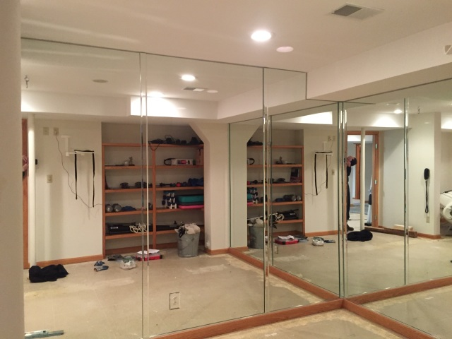 mirrors in a personal gym - twin bay glass