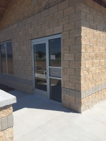 New commercial entry way and door