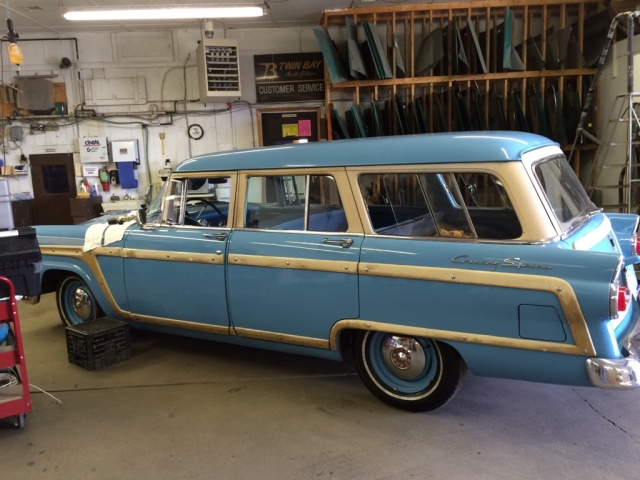 55 ford squire stone chip repair - twin bay glass